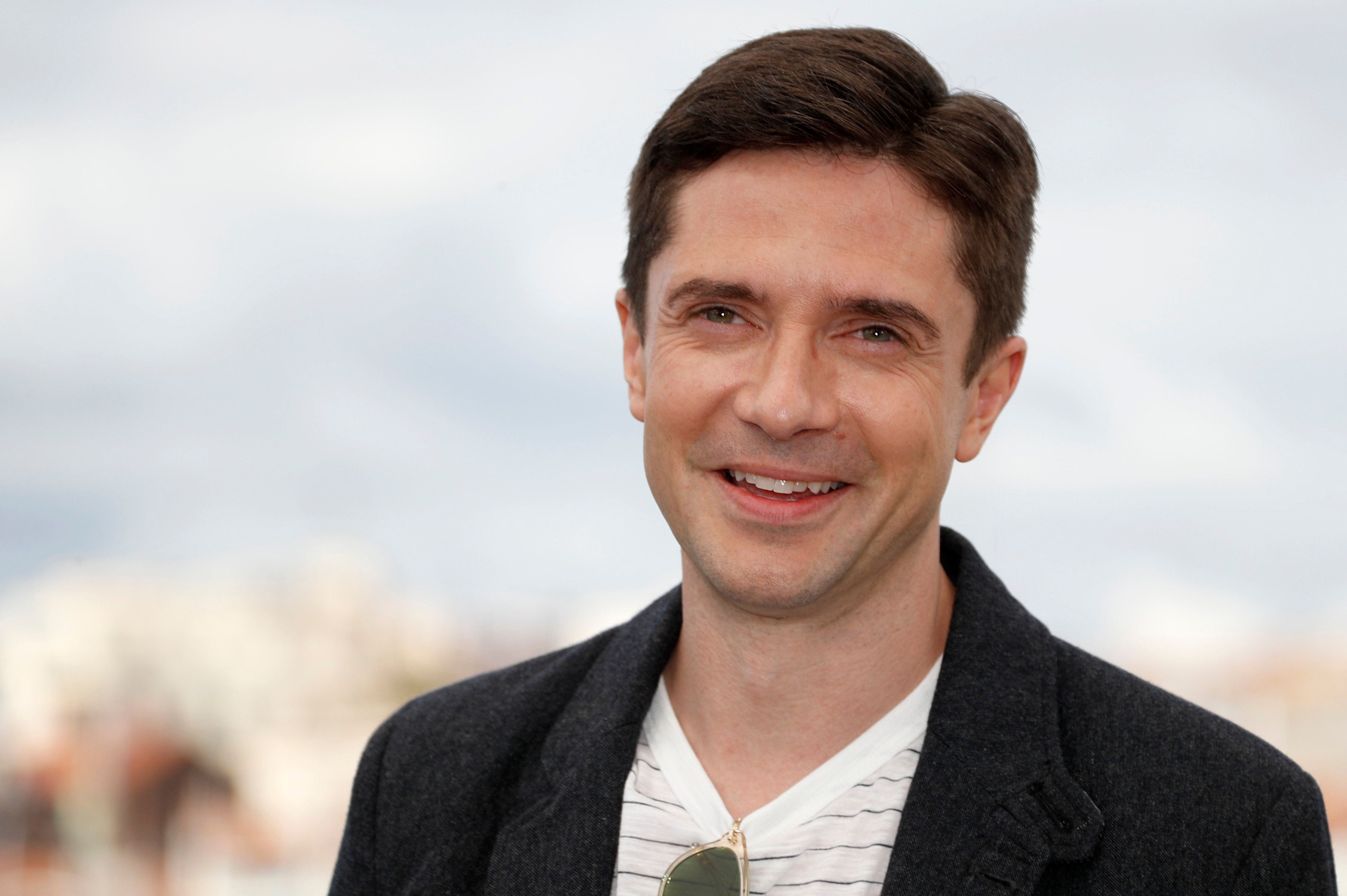 """71st Cannes Film Festival - Photocall for the film """"BlacKkKlansman"""" in competition- Cannes, France, May 15, 2018. Cast member Topher Grace. REUTERS/Eric Gaillard"""