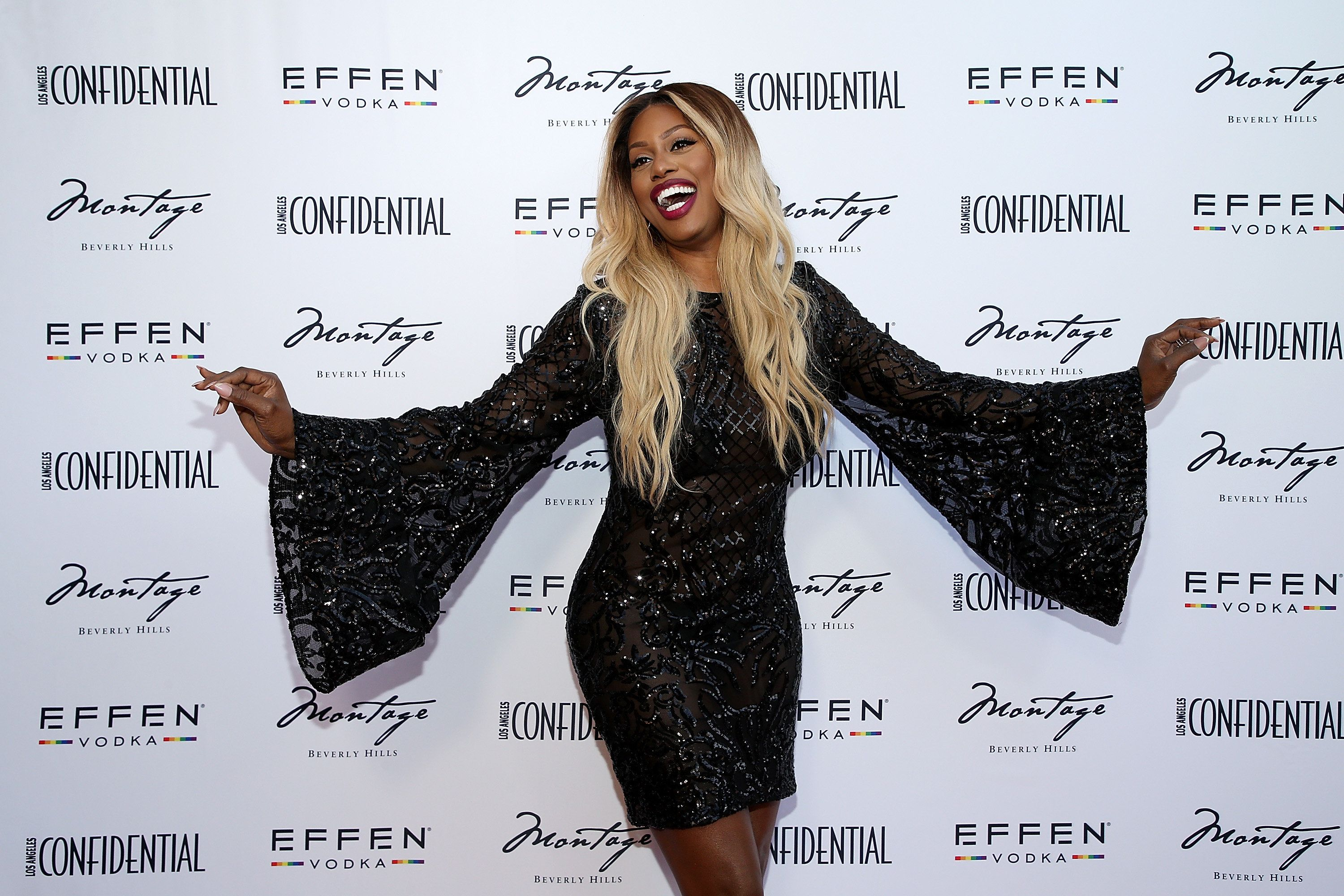 Laverne Cox at the Los Angeles Confidential Celebration for Portraits of Pride on June 4 in Beverly Hills.