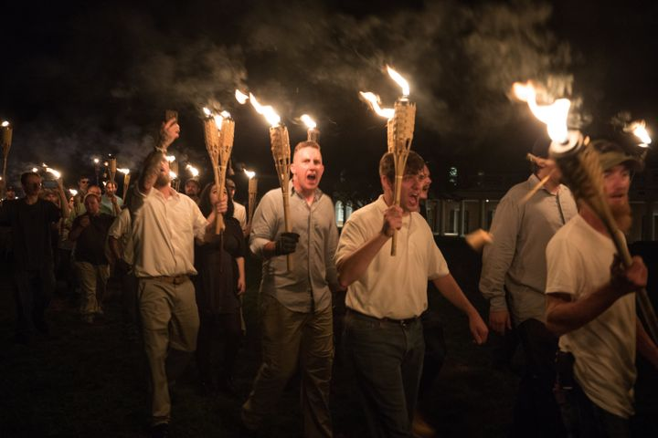 White nationalists march in Charlottesville, Virginia,in 2017.