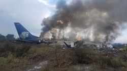 멕시코 항공기 이륙 직후 추락해 85명
