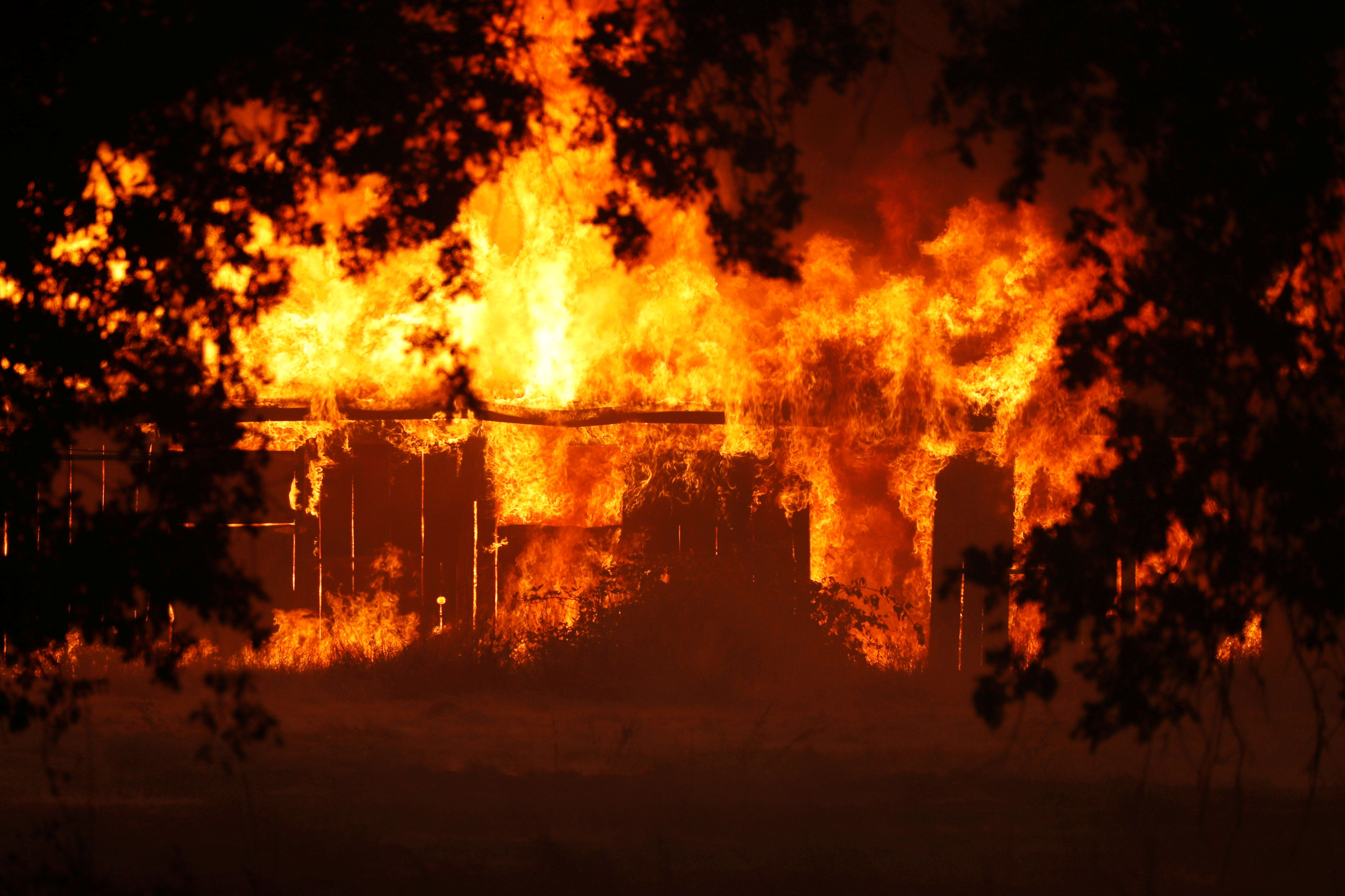 """""""We're advised that the fire was threatening structures,"""" Mendocino County Undersheriff Matthew Kendall sai"""