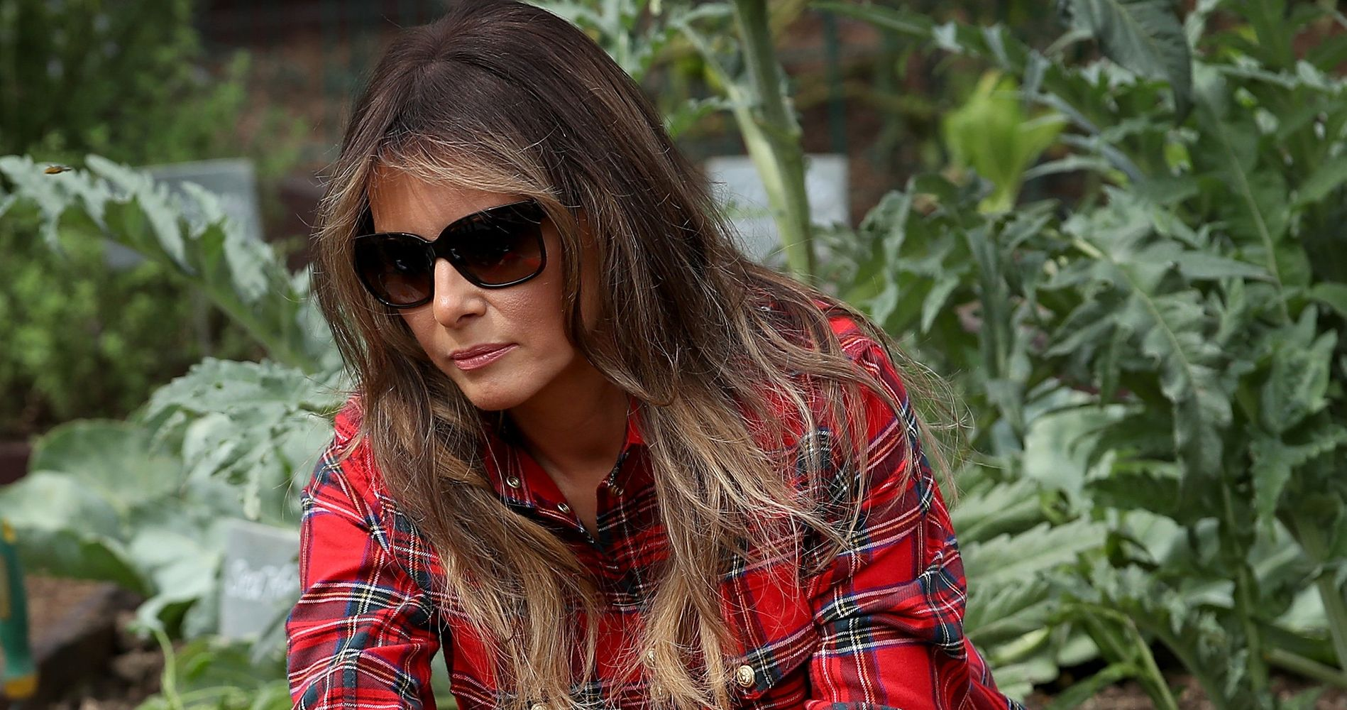 6e42ad86 Melania Trump Gardening In Immaculate Sneakers Is A New Summer Meme |  HuffPost