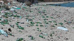 Photos du jour: La plage de Gammarth dans un état