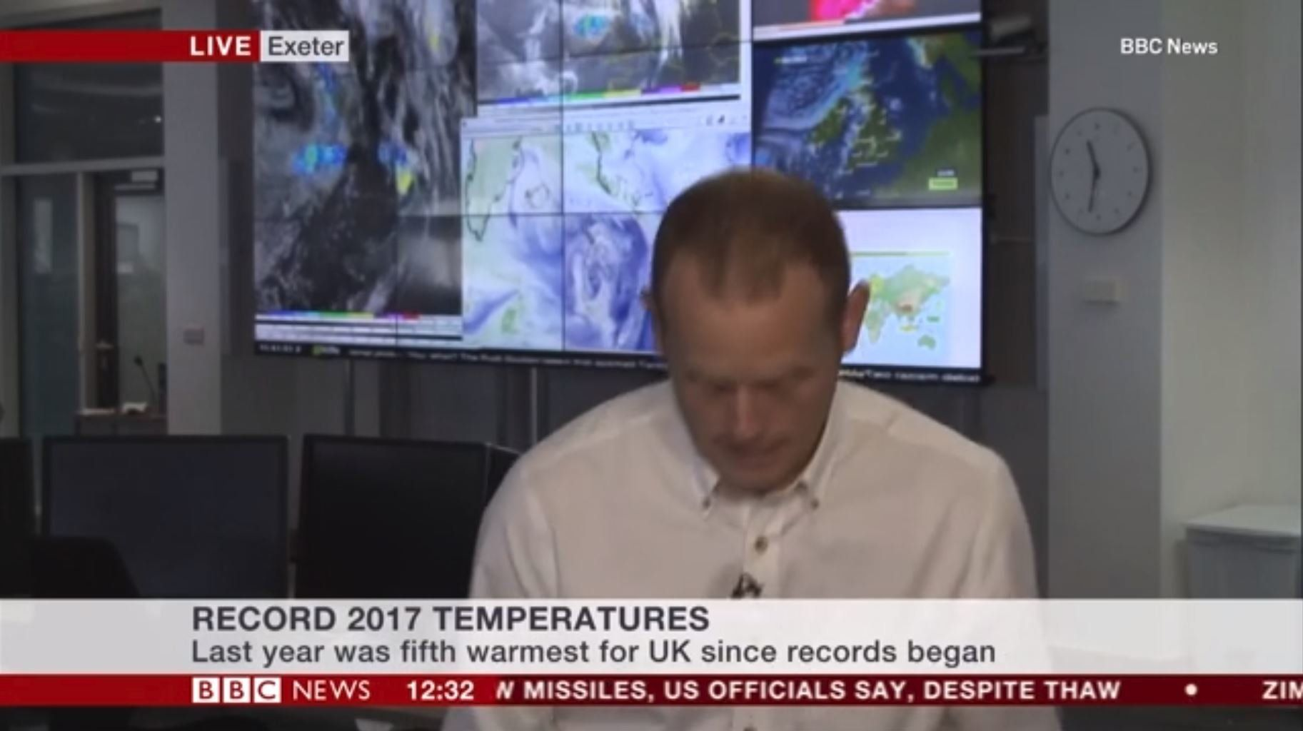 BBC Weather Expert Apologises After 'Passing Out' Live On