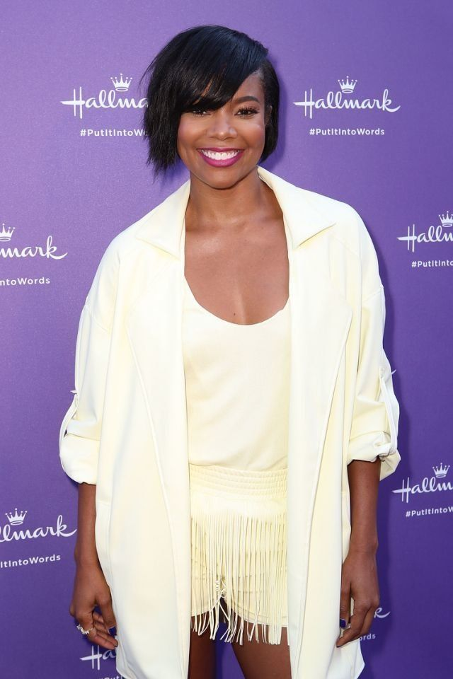 "Gabrielle Union arrives at Hallmark's ""When You Care Enough to Put It Into Words"" event on July 30 in Los A"
