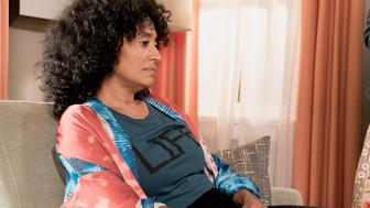 BLACK-ISH - 'Mother Nature' - Bow is feeling overwhelmed after the birth of DeVante and learns she is suffering from postpartum depression. Dre urges her to get help and stands by her side while she works through it. Meanwhile, the kids babyproof the house in an effort to help their parents out, on 'black-ish,' TUESDAY, OCTOBER 10 (9:00-9:30 p.m. EDT), on The ABC Television Network. (Eric McCandless via Getty Images) TRACEE ELLIS ROSS