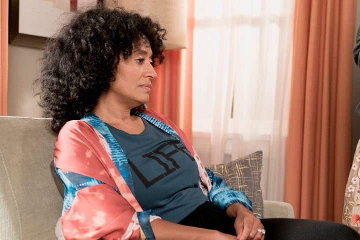 "Tracee Ellis Ross as Rainbow on ""Black-ish,"" in an episode her character seeks therapy and support for postpartum depression."