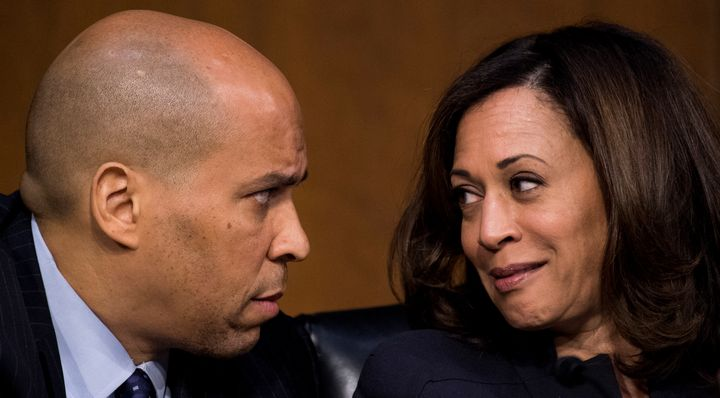 Sen. Cory Booker (D-N.J.) and Sen. Kamala Harris (D-Calif.) are still centrists. But they and other Democrats with an eye on