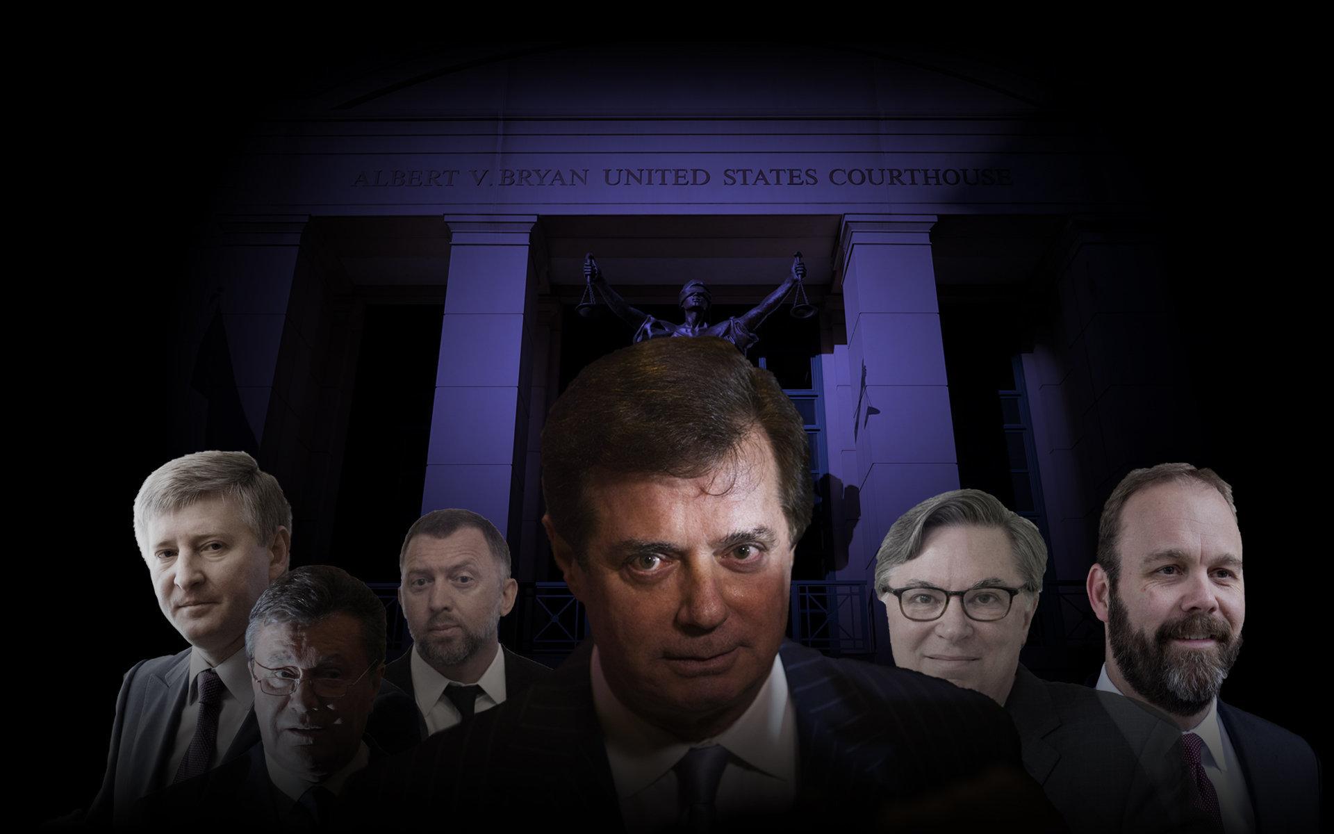 Image result for images of trial of Paul Manafort & Deripaska
