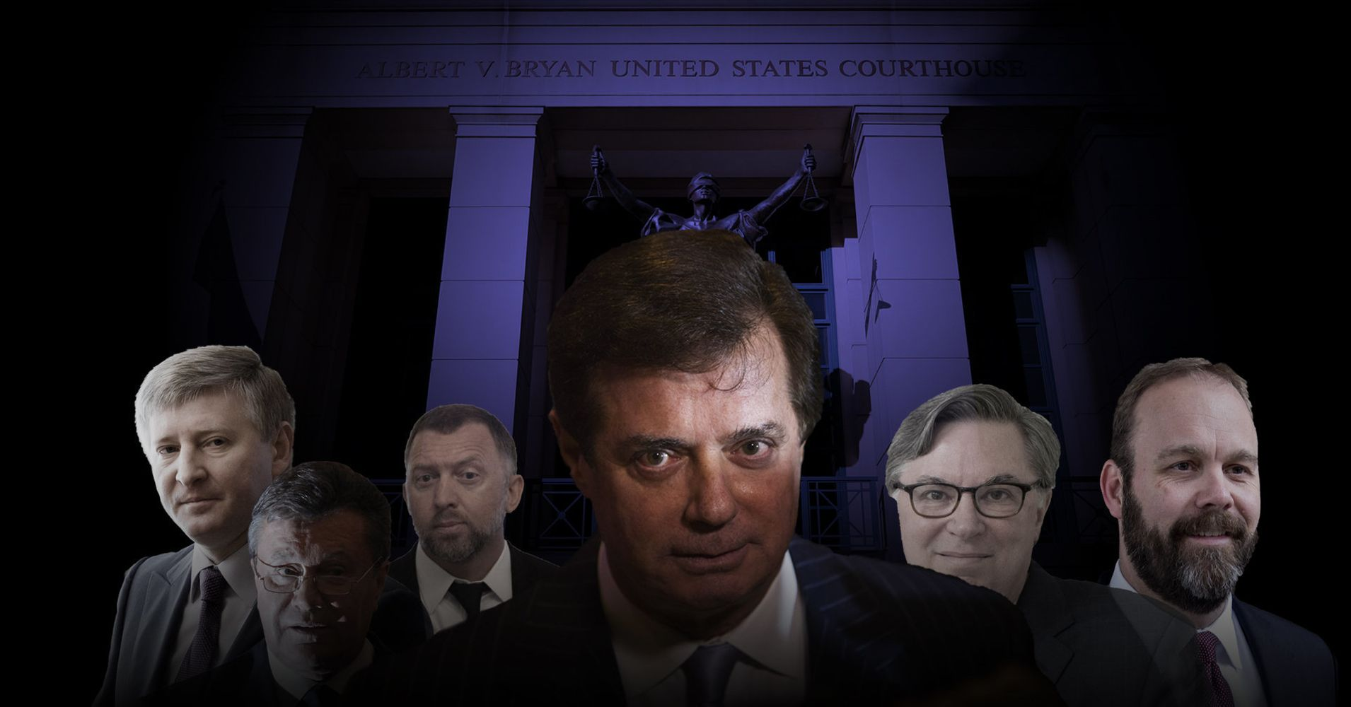 Image result for images of trial of Paul Manafort & Deripaska