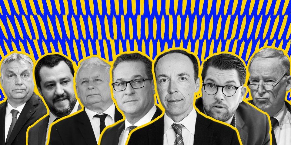 Hungary's Victor Orban, Italy's Matteo Salvini, Poland'sJaroslaw Kaczynski,Austria's Heinz-Christian...