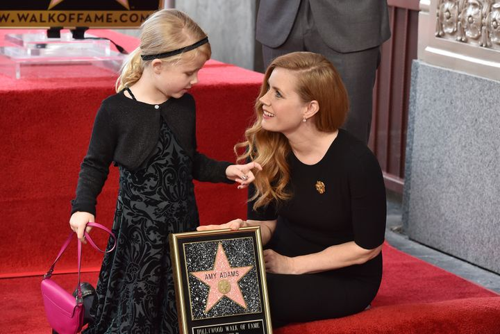 Amy Adams with her daughter, Aviana, inJanuary 2017.