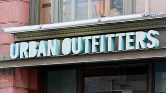 'Toronto, Canada - February 23, 2011: The exterior of the Urban Outfitters store on Yonge Street in downtown Toronto.  Urban Outfitters operates over 140 locations worldwide.'