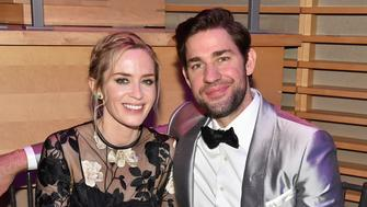 NEW YORK, NY - APRIL 24:  Emily Blunt (L) and John Krasinski attend the 2018 TIME 100 Gala at Jazz at Lincoln Center on April 24, 2018 in New York City.  (Photo by Patrick McMullan/Patrick McMullan via Getty Images)