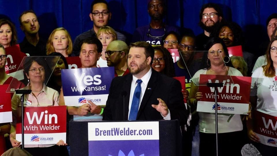 Brent Welder is one of the Democratic candidates vying for the chance to unseat Rep. Kevin Yoder (R-Kan.), considered one of