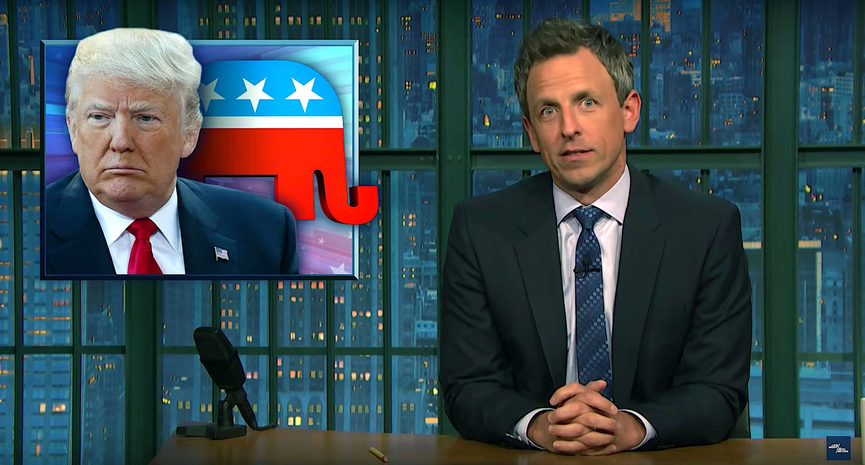 Seth Meyers of Late Night says Americans want wealthy Americans to get wealthier