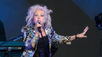 US singer Cyndi Lauper performs on stage in Quebec City during the 2018 Festival d-Ete on July 13, 2018. (Photo by Alice Chiche / AFP)        (Photo credit should read ALICE CHICHE/AFP/Getty Images)