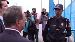 Moment de gêne après le refus d'un policier marocain de serrer la main du président de Sebta
