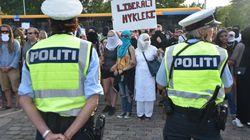 Muslime protestieren gegen Burka-Verbot in Dänemark: Eine Szene sorgt nun für