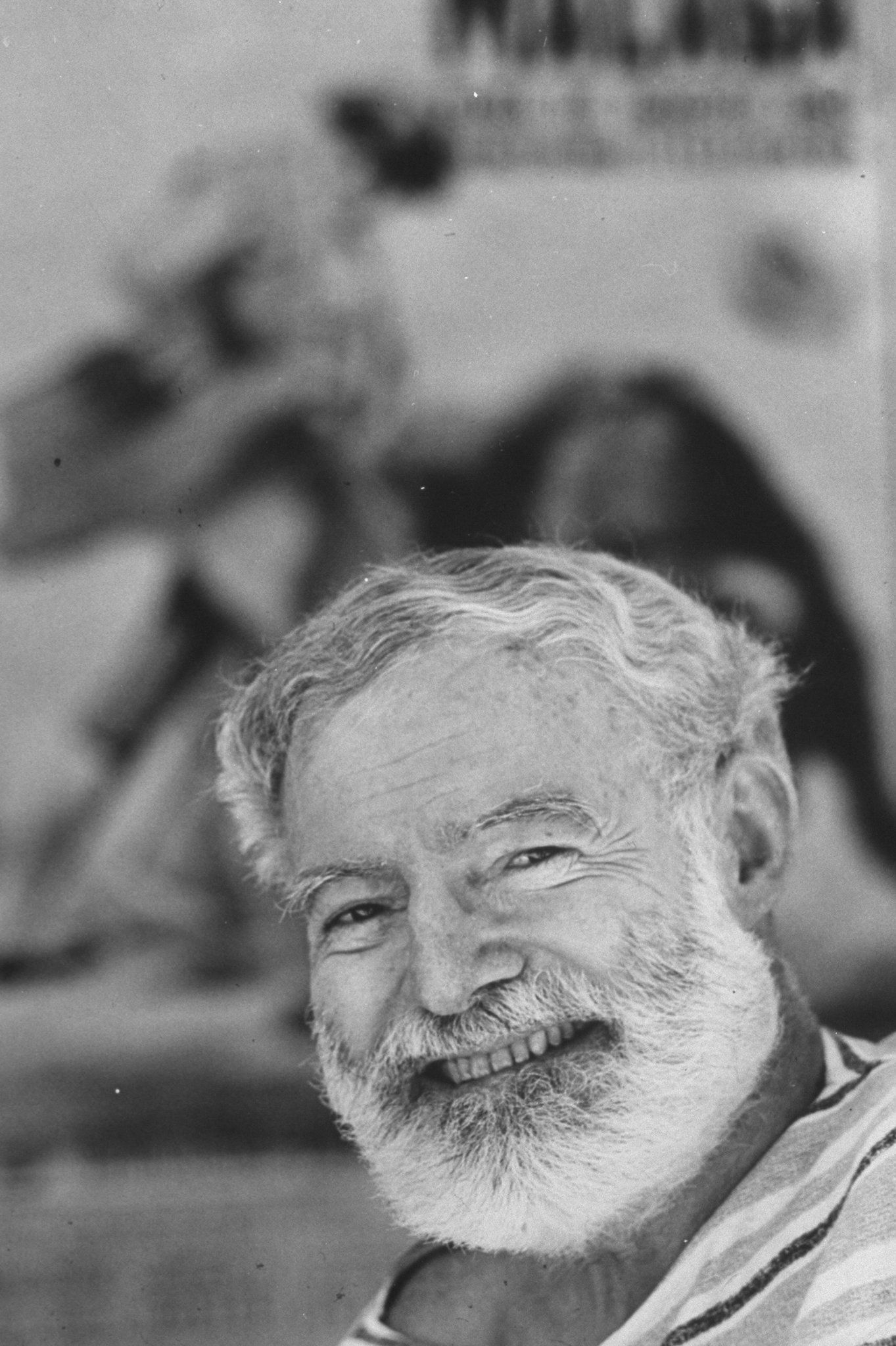 Author Ernest Hemingway covering bullfight rivalry of Spanish matadors Ordonez & Dominguin.  (Photo by Loomis Dean/The LIFE Picture Collection/Getty Images)