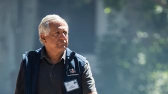 SUN VALLEY, ID - JULY 11: Leslie 'Les' Moonves, president and chief executive officer of CBS Corporation, attends the annual Allen & Company Sun Valley Conference, July 11, 2018 in Sun Valley, Idaho. Every July, some of the world's most wealthy and powerful businesspeople from the media, finance, technology and political spheres converge at the Sun Valley Resort for the exclusive weeklong conference. (Photo by Drew Angerer/Getty Images)
