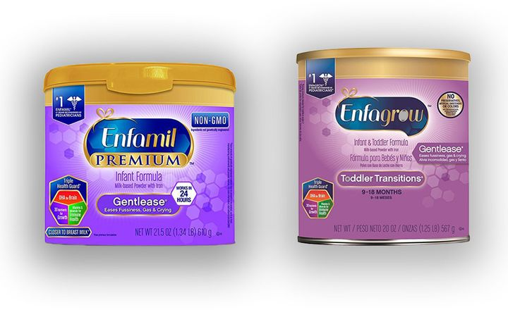 See the similar packaging of Enfamil infant formula and Enfagrow toddler formula from Mead Johnson.