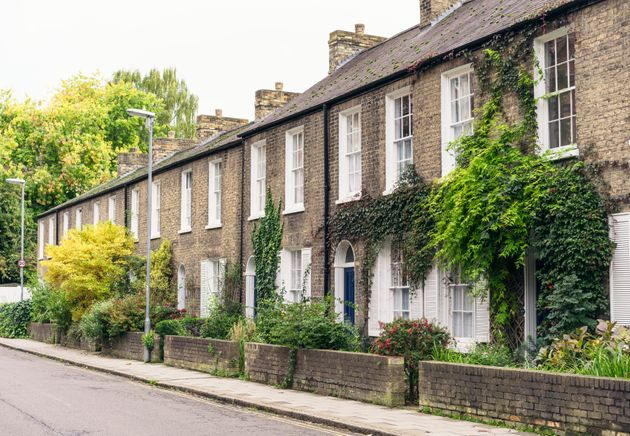 A street of row houses in Cambridge, one of the cities in England where rent prices have risen the most compared to wages.