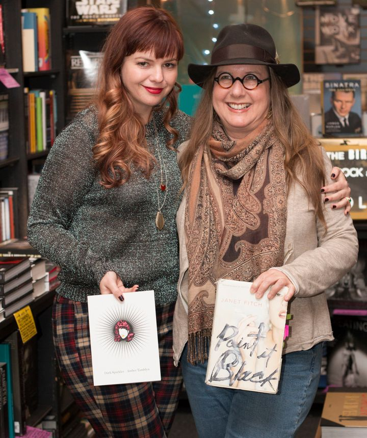 Actress and author Amber Tamblyn (left) withFitch in West Hollywood, California, in 2015.