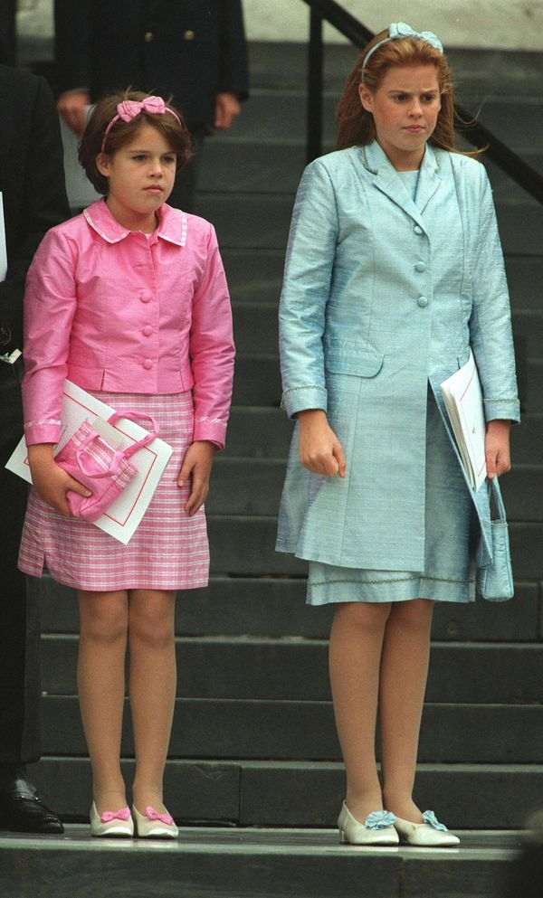 At a Thanksgiving service for Britain's Queen Mother July 11 at St. Paul's Cathedral in London.