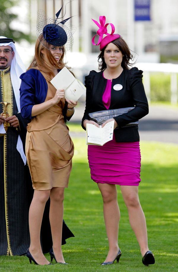 Studying their race cards at the Royal Ascot Ladies Day at Ascot Racecourse on June 17in Ascot, England.