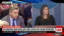 CNN's Jim Acosta Walks Out Of White House Press Briefing After Exchange With 'Shameful' Sarah Huckabee