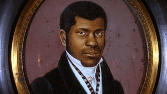 Born in slavery in Santo Domingo, Haiti, Pierre Toussaint was brought to New York about 1797 by Jean Berard, a wealthy French landowner, New York, 1825. When Berard returned to Haiti and suddenly died, leaving his young widow in New York without means, Toussaint took care of her until her death. He supported her as well as his own family by becoming one of the most successful and fashionable hairdressers in New York City. Watercolor on ivory by Anthony Meucci. (Photo by The New York Historical Society/Getty Images)
