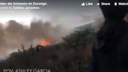 승객이 직접 찍은 아에로멕시코 추락사고 동영상이