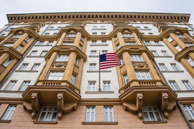 러시아 모스크바에 위치한 미국 대사관.