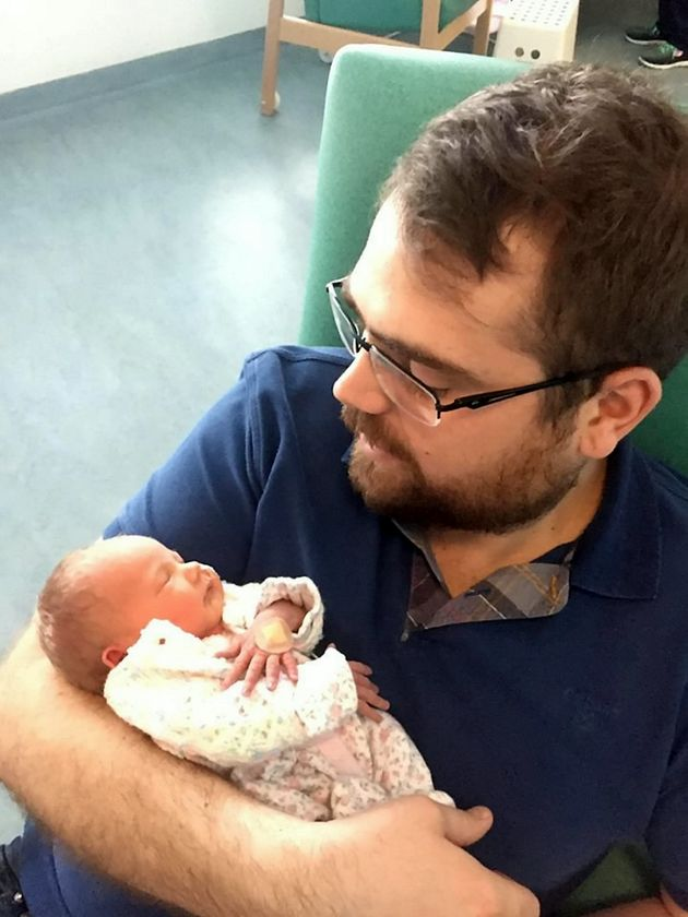 Emilie with dad Richard Cox in