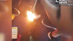 L'explosion d'une batterie pour téléphone sème la panique dans un