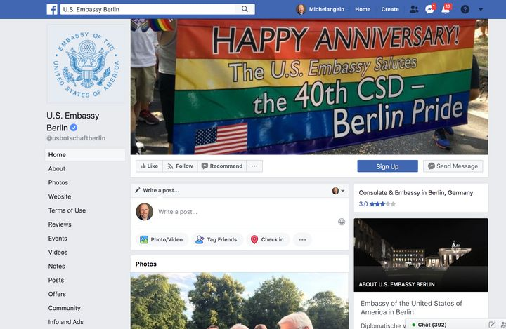 A contingent led by U.S. Ambassador to Germany Richard Grenell marched in the Berlin pride parade last weekend.