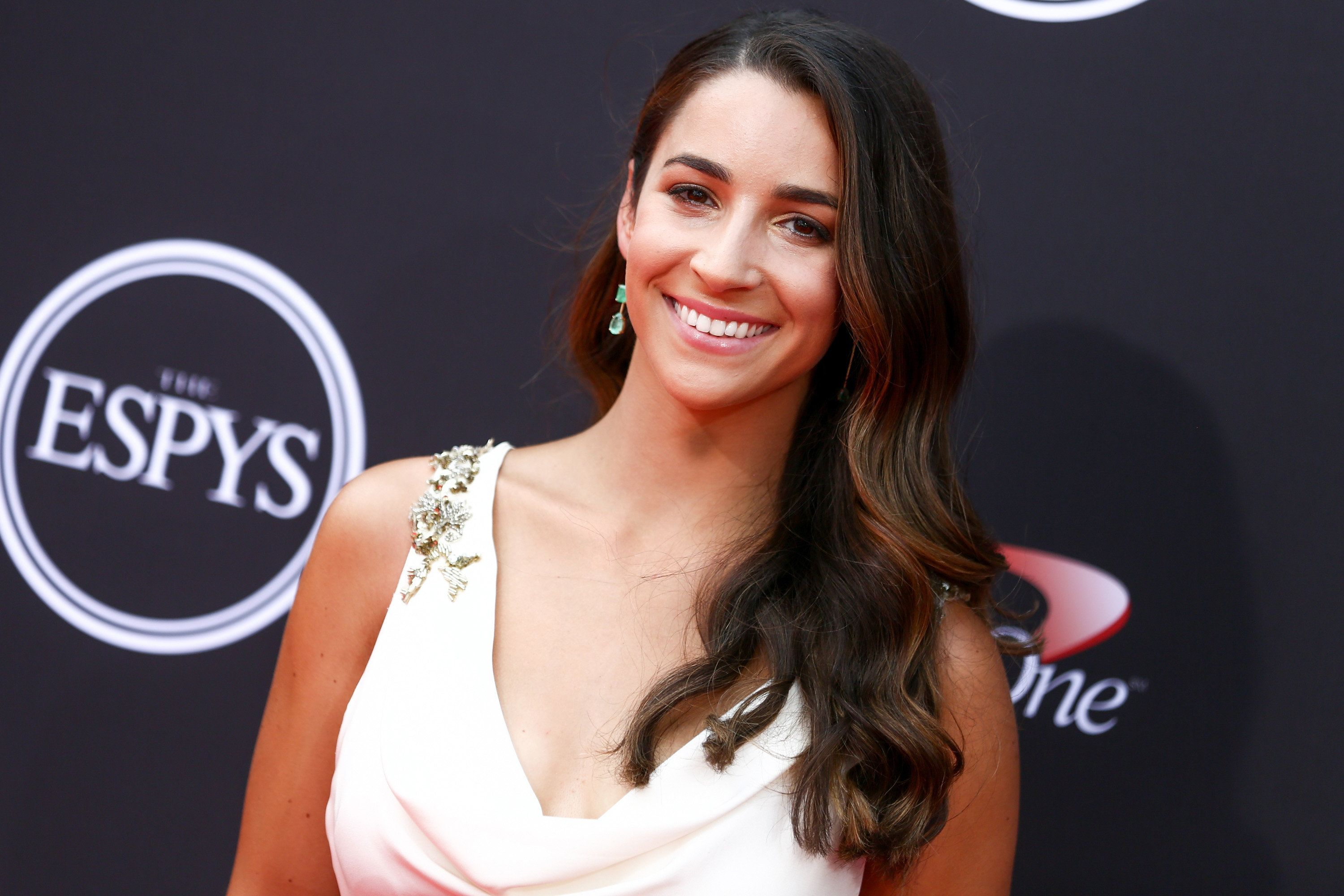 LOS ANGELES, CA - JULY 18:  Aly Raisman attends the 2018 ESPYS at Microsoft Theater on July 18, 2018 in Los Angeles, California.  (Photo by Rich Fury/WireImage)