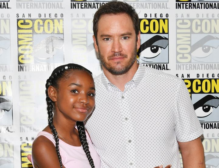 "Saniyya and Gosselaar attend ""The Passage"" press line during Comic-Con International 2018 in San Diego."