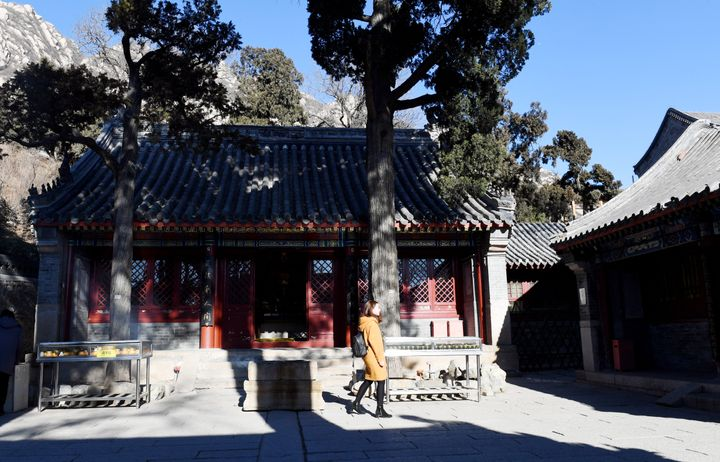 A general view of the Longquan Temple is seen on February 17, 2017 in Beijing, China.