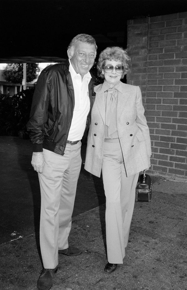 Ball with then-husband Morton.