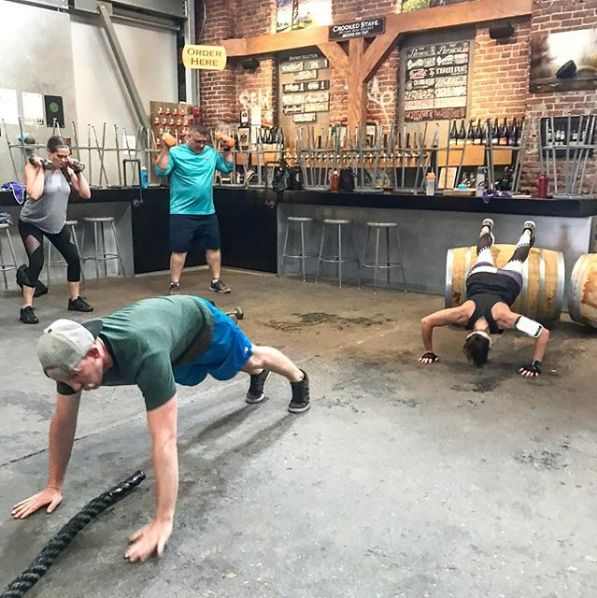 The Crooked Stave Taproom in Denver hosts Brewery Boot Camp classes, and attendees can work out, then drink discounted beer.
