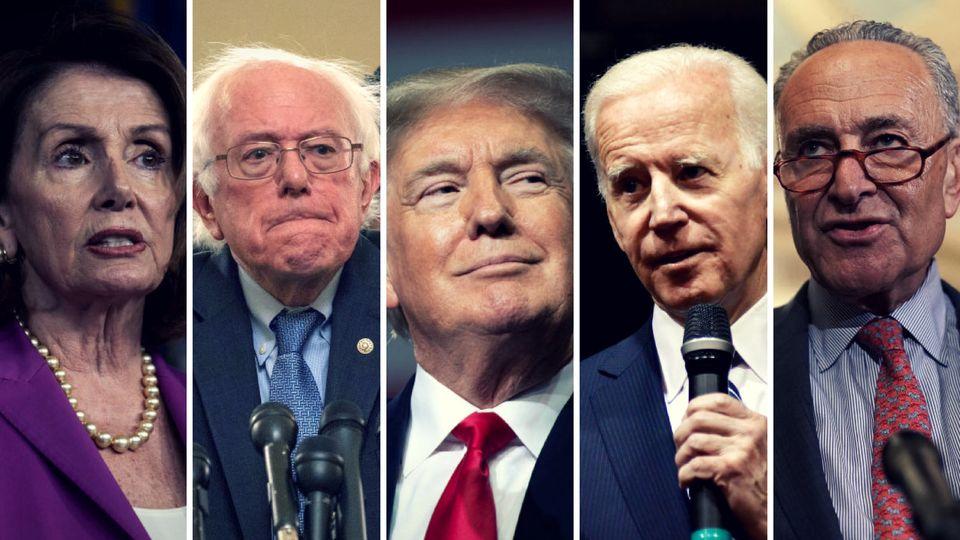 Einer gegen alle: Donald Trump hat seine Gegner aus der Demokratischen Partei in den USA voll im