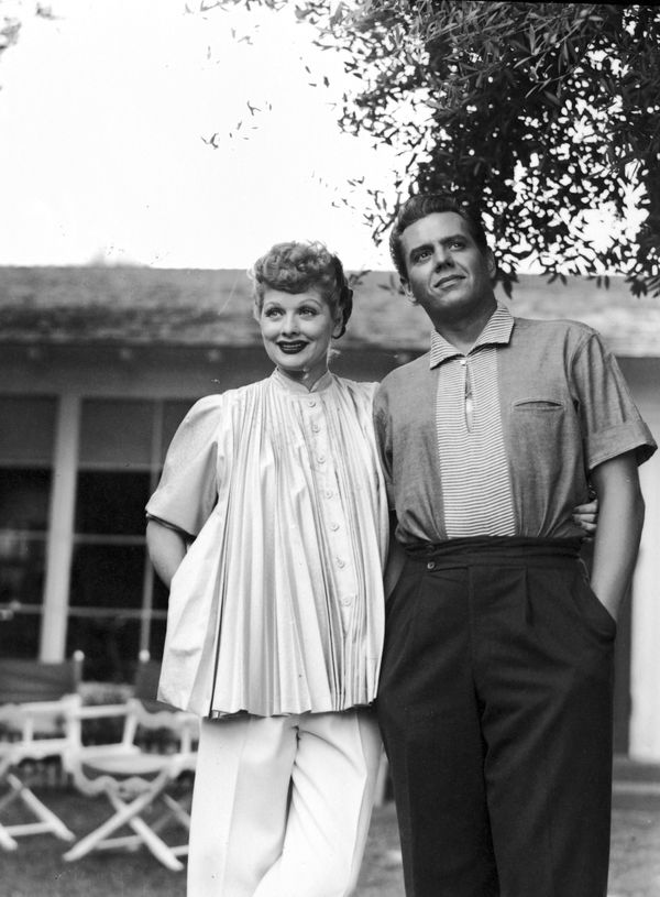 Ball with her then-husband, Desi Arnaz.