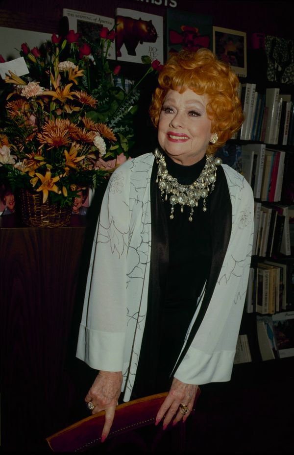 Ball at a book signing event for Betty White's<i>Betty White In Person.</i>