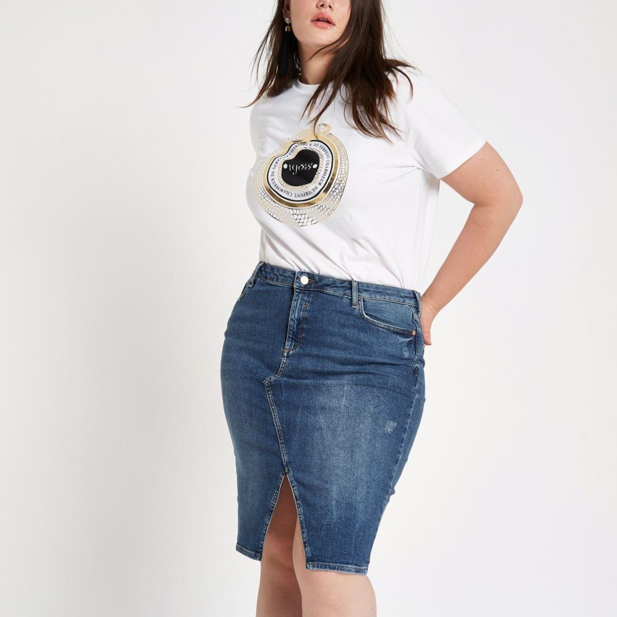 Curvy milf jean skirt | Porn images)