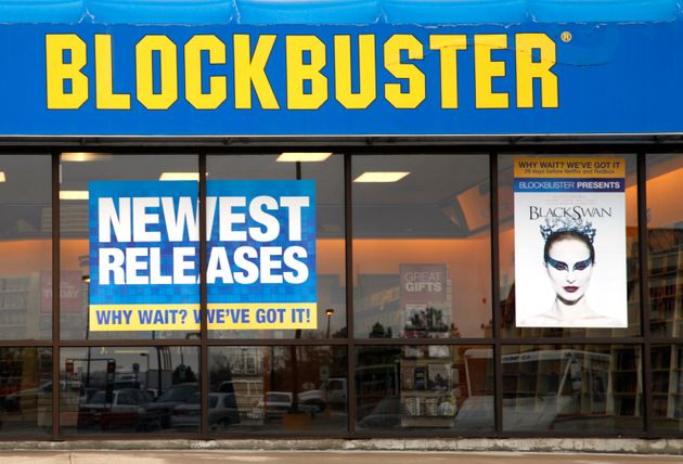 A Blockbuster movie rental store in the Denver suburb of Broomfield, Colorado, on April 6,