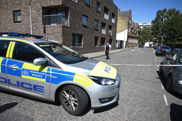 Police activity in Warham Street in Camberwell, south London, where Moscow17 rapper Incognito was killed.