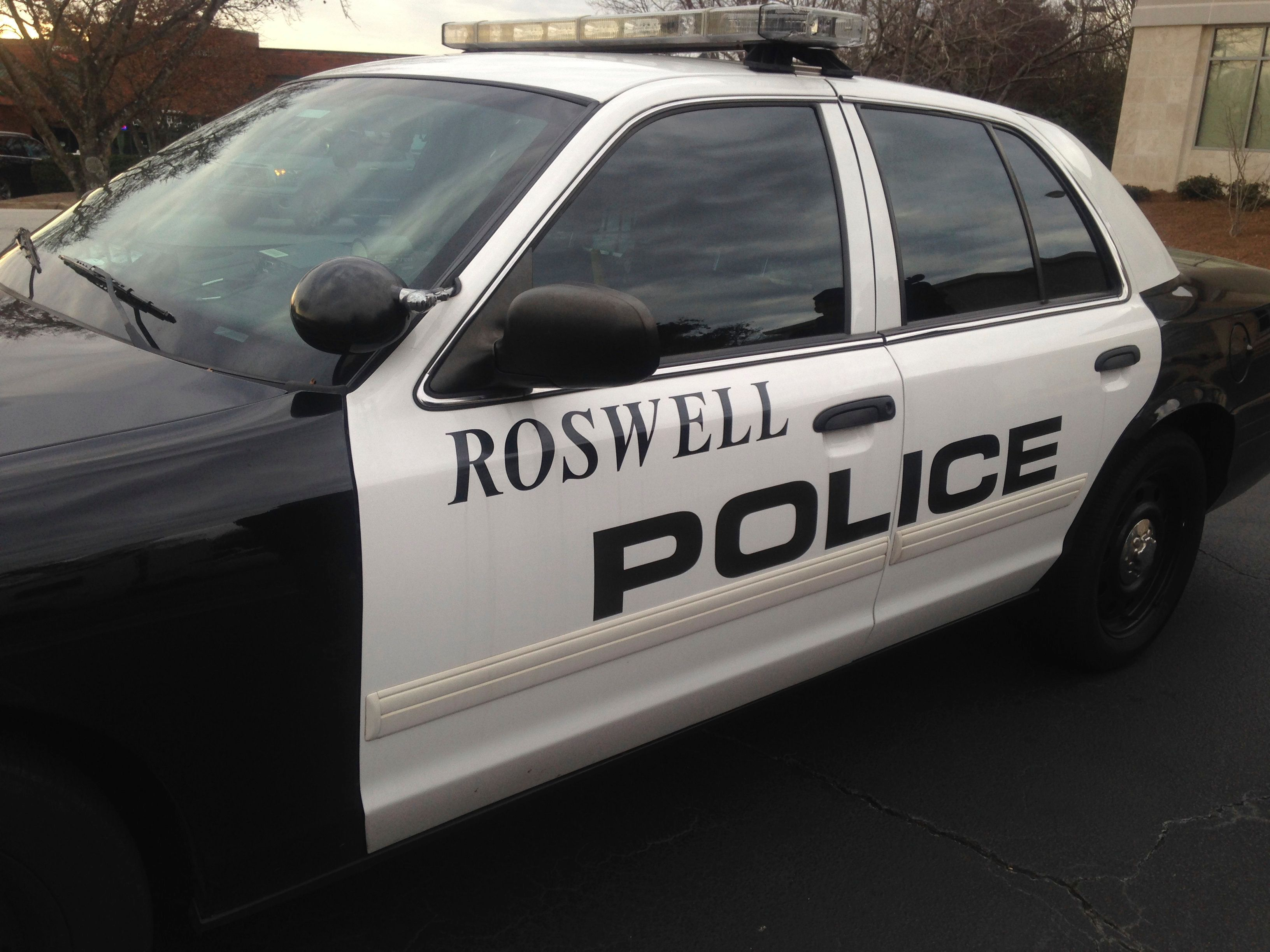 ROSWELL, GA - JANUARY 31: Roswell police car seen near North Fulton Hospital on January 31, 2015 in Roswell, Georgia. Bobbi Kristina Brown, daughter of Whitney Houston and Bobby Brown, was reportedly found unconscious in her bathtub on January 31, 2015. (Photo by John E. Davidson/Getty Images)