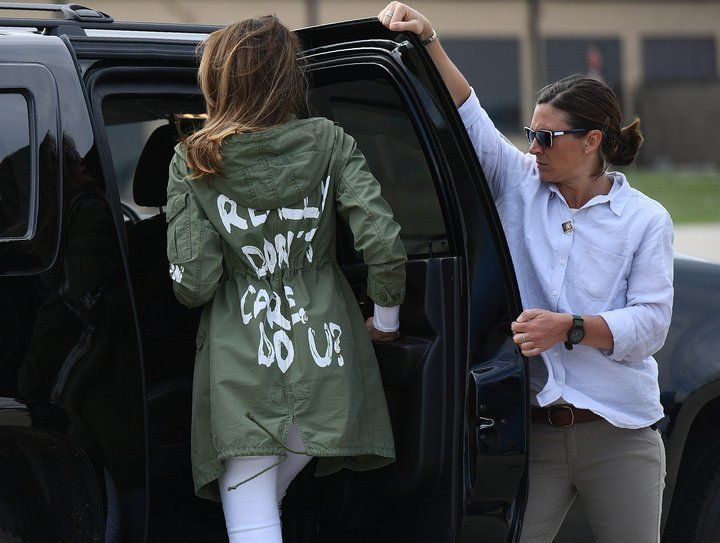 Melania Trump's startling message as she headed to an immigrant center for children separated from their parents.